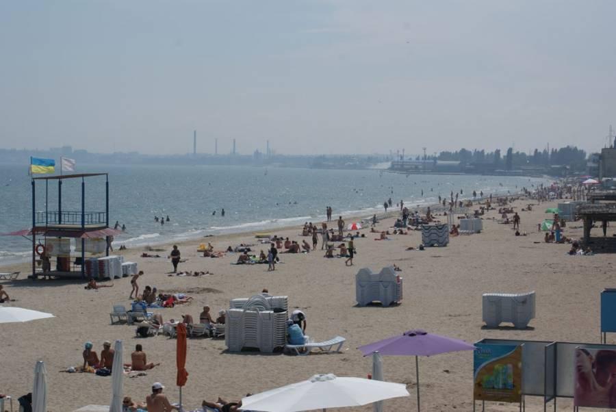 Пляж Лузановка - естественный пляж