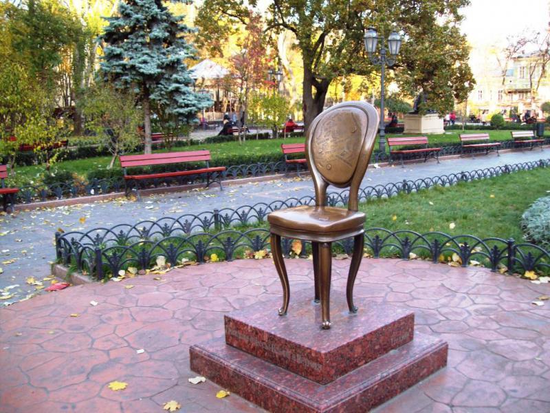 Памятник Ильфу и Петрову Одесса
