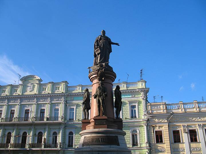Памятник Екатерине Великой Одесса