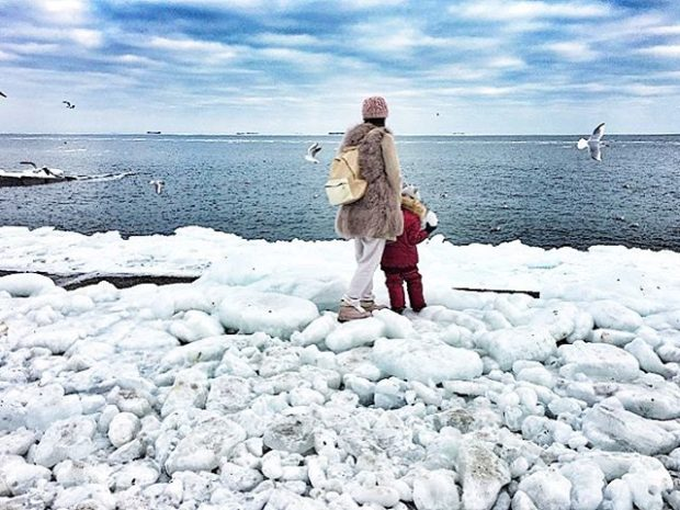 Море зимой в Одессе