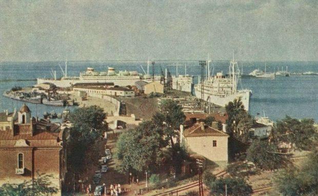 Морской вокзал, Одесса, ретро-фото