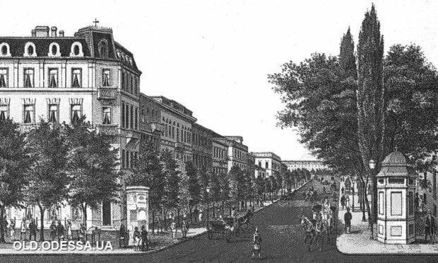 Улица Дерибасовская, Одесса, ретро фото
