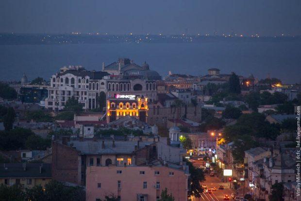 Вид с крыши 20-этажки, Одесса