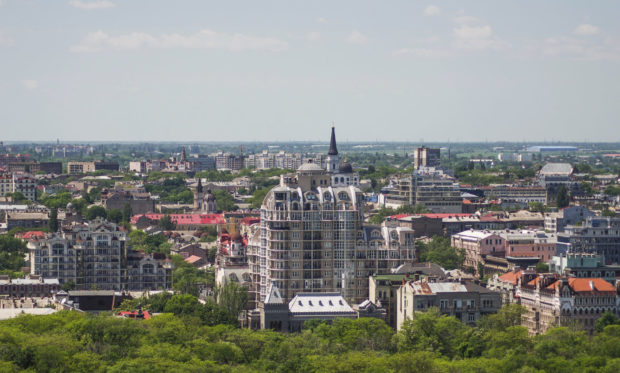 вид с Крыша на Лидерсовском бульваре, Одесса