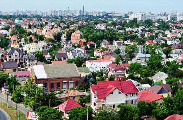 """Вид с крыши курорта """"Мирный"""" , Одесса"""