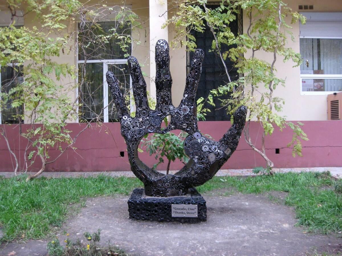 Спасибо стив скульптура в Одессе
