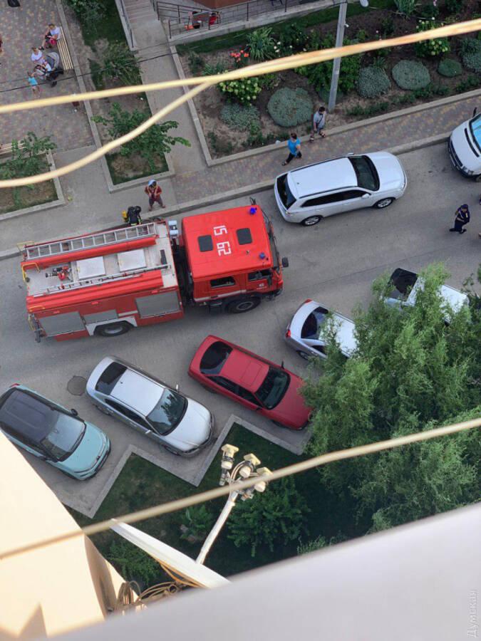 Пожар в Одессе, жк радужный
