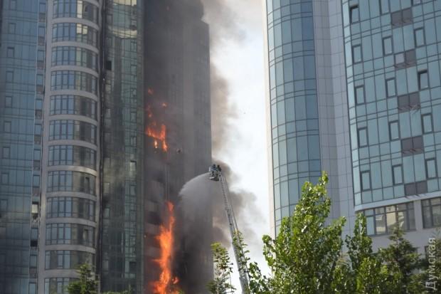 Пожар на Гагаринском плато в Одессе