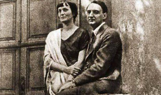 Анна Ахматова с мужем